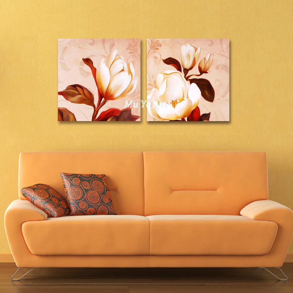 Vintage abstract famous pink flower artwork canvas prints picture ...