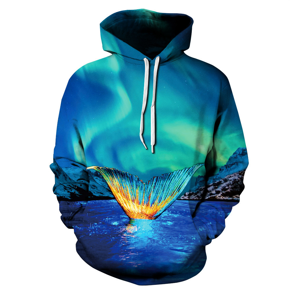 Joyonly Space Galaxy 3D Hoodies Men 2018 Pocket Pullover Hooded Sudaderas Hombre Plus Size Clothing Brand Hip Hop Sweatshirts Dr