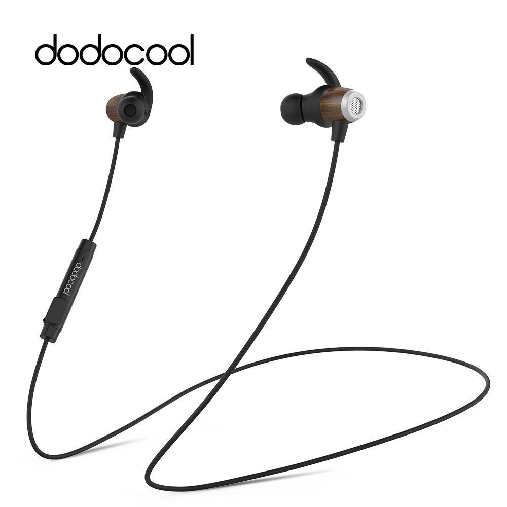 все цены на dodocool Wood Magnetic Wireless Earphone with Mic Stereo Bluetooth Earphone IPX5 Waterproof Noise Cancellation Earbud for iPhone