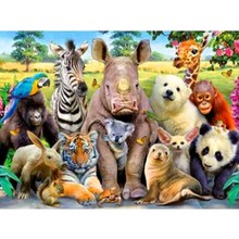 Diamond Painting Animal Photo Full Square Animals  Decoration Homediamond New Arrival