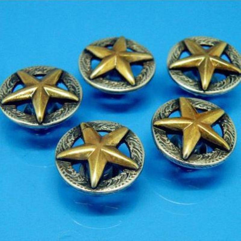 DIY Leathercraft Hardware 3/4 '' (19mm) Western Texas Star Concho - Artes, artesanía y costura