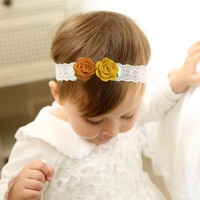 ae353099adaf New Design Cute Baby Headband Girls Non-woven Flowers Elastic Hairbands  Toddler Girls Headwear Accessories