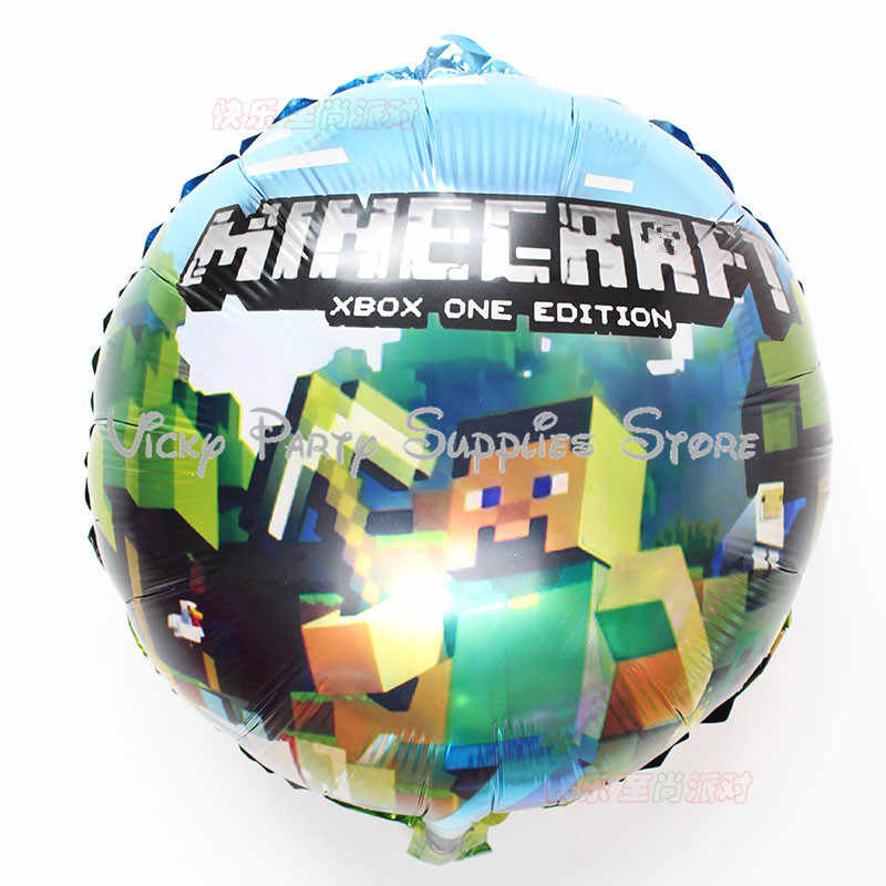 18 Inch Minecraft Balloon Minecraft Birthday Party Foil Balloon for Kids  Party Wedding Party Inflatable Air Balloons Classic Toy
