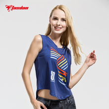 Tasdan 2016 Sports Wear Running Shirts Cycling Clothes Sleeveless Womens Tops Clothing