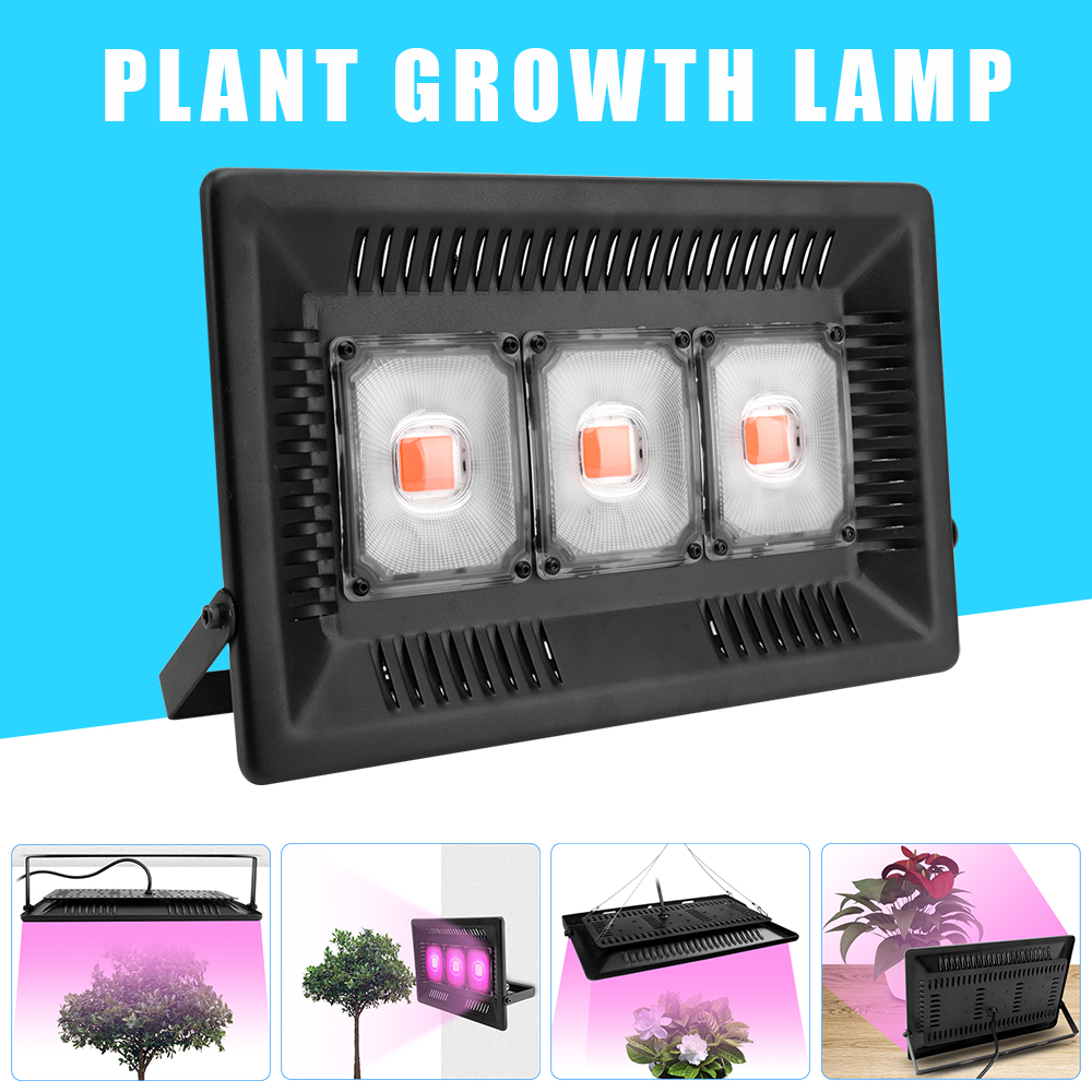 BORUiT 100W 200W 300W 110/220V COB LED Grow Light Full Spectrum 380-830nm Phytolamp IP65 Waterproof Tent For Hydroponic Plant