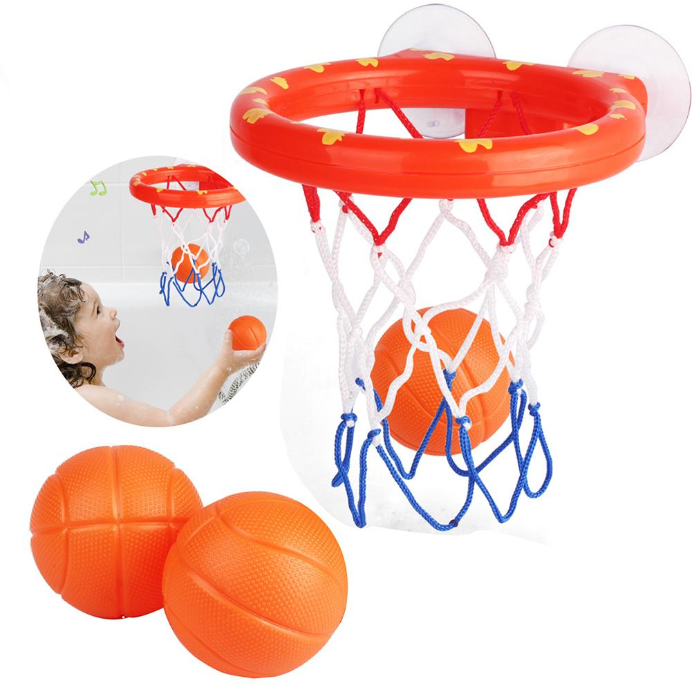 Baby Funny Bath Toys Bathtub Basketball Hoop With 3 Balls Suctions Cups Shooting Game Toddlers Baby Balls Toy Set Kids Bath Toy