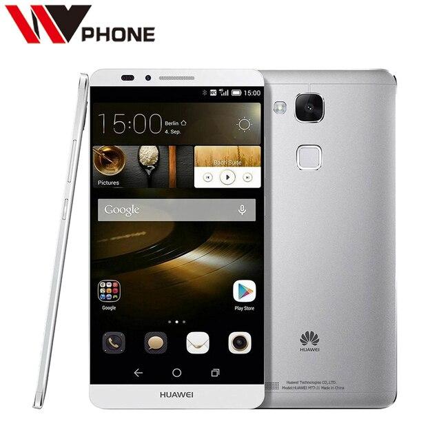 Оригинал Huawei Mate 7 3 Г RAM 32 Г ROM 4 Г LTE Mobile телефон Кирин 925 Octa Ядро 6.0 Дюймов 5.0MP 13.0MP Отпечатков Пальцев ID NFC
