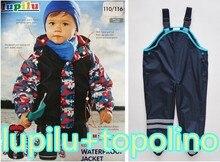 Германия LUPILUTopolino бренд детских плащ дождь брюки комбинезоны ветрозащитный водонепроницаемый дождь костюм для детей бесплатная доставка