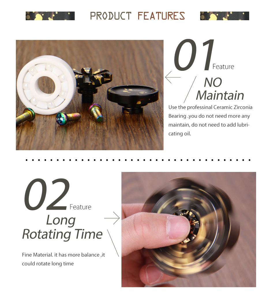 Do Dower EDC Fidget Spinner Rose Turbine Hand Spinner Focus Toys Aluminum Alloy/Steel/Brass/Copper Fidget Spinner Hands Toys