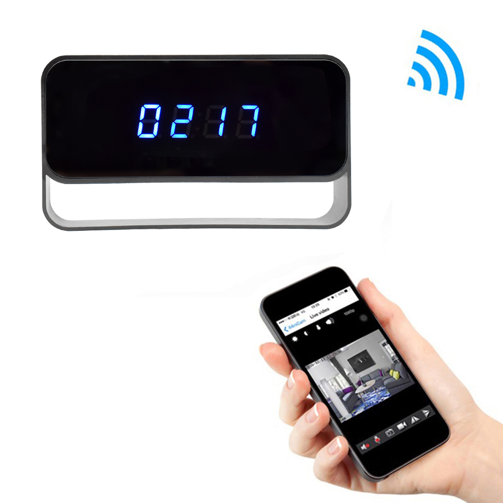 WIFI Mini Camera 1080P Time Alarm CCTV Home Security Clock Wireless Nanny IP Camera P2P IR light Night Vision Motion Detection (1)