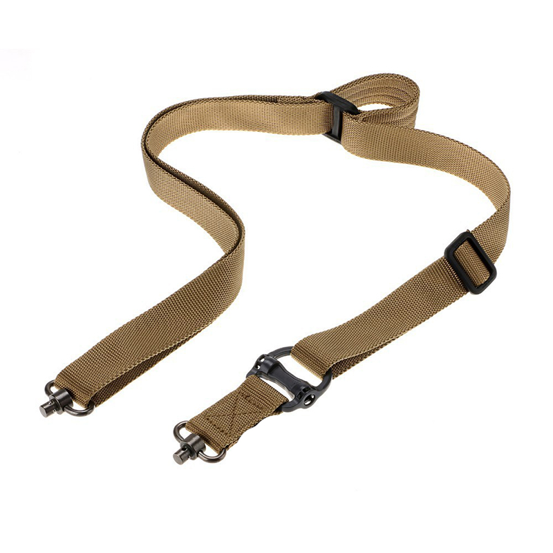 Caza de Airsoft Tactical Rifle Sling Correa Quick Separar QD Swivel Dual Dos 2 P
