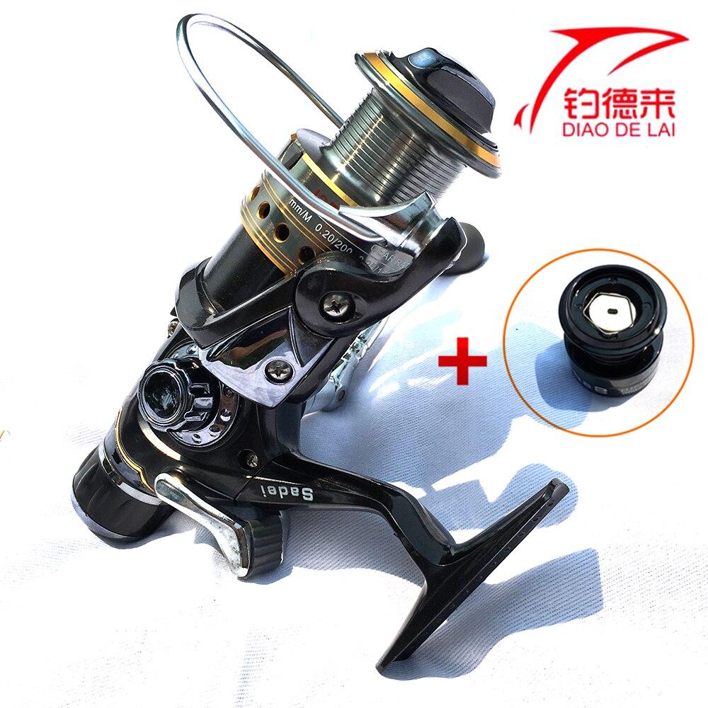 Dual Brake Feeder Fishing reel 8+1BB Front & Rear Brake Reel Carp Reel Tackle For Fishing + Free Spare Coil