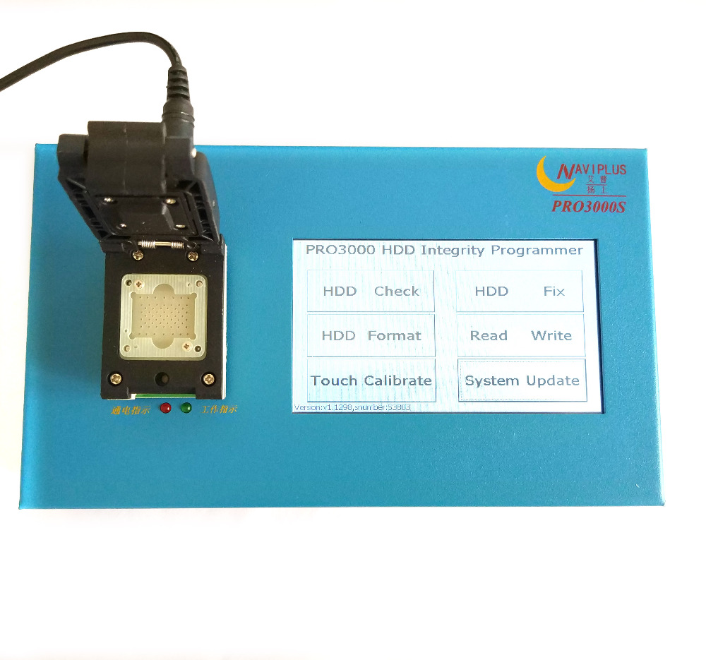 US $198 0 |NAVI PLUS pro3000s iPhone 5 5C 5S 6 6P iPad 2 3 4 5 6 bypass  icloud 32 64 bit nand chip programmer Non removal adapter-in EL Products  from