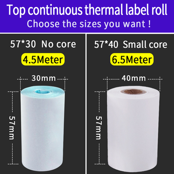 Jetland Thermal label  Paper 57*30 57*40 mm , Continuous thermal Paper Adhesive Sticker Roll for Bluetooth  POS Printer 1