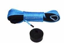 """Blau 3/16 """"* 50ft ATV Winde Linie hinzufügen Winde Haken Stoper, Synthetische Winch Kabel 5mm,UHMWPE Seil, Kevlar Seil"""