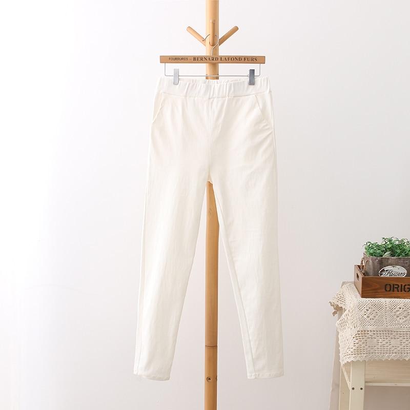 6 Colores Pantalones de Cintura Alta de Mujer Más Tamaño 3 4 5 XL - Ropa de mujer - foto 5