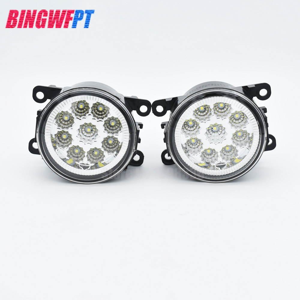 1Set Car styling LED fog lights High power DRL Fog lamps H11 Socket For Ford Focus 2008-2014 for lexus rx gyl1 ggl15 agl10 450h awd 350 awd 2008 2013 car styling led fog lights high brightness fog lamps 1set