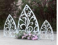 New wedding props iron art screen triangle screen wedding props stage decoration background wedding props placed pieces.
