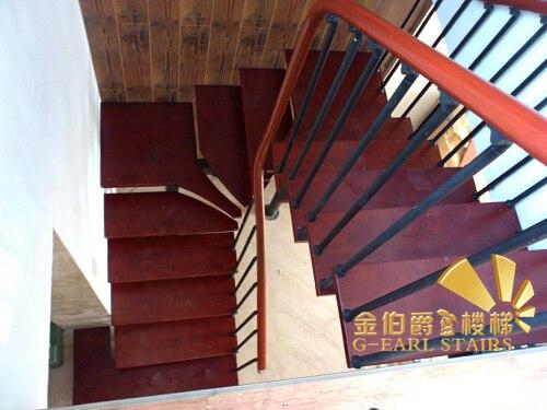 Oro escalera escalera de madera j115 en forma de u de acero poste de la cerca.jpg