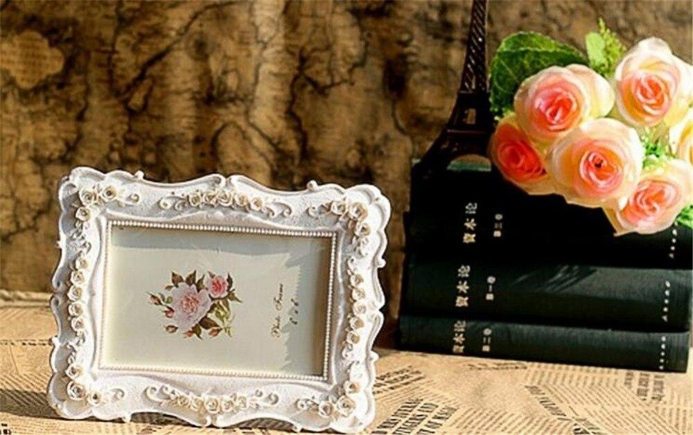 Europäischen Stil Harz Fotorahmen Kreative Weiße Rose Handgemachte ...