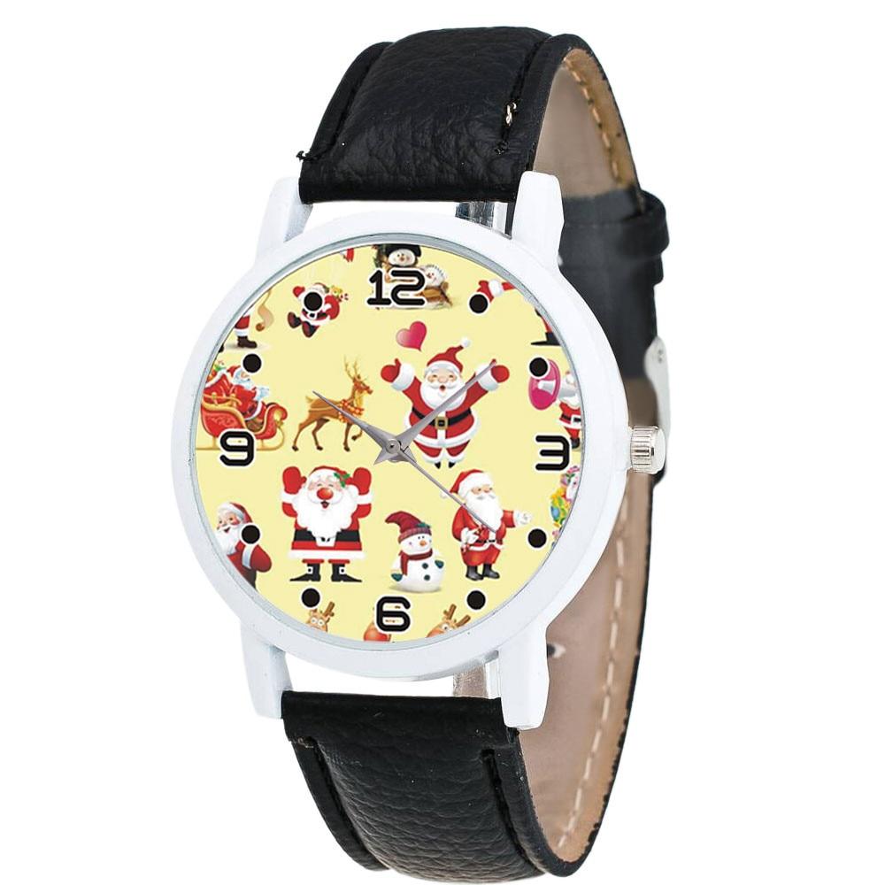 Women Watch Christmas Diamond Leather Band Analog Quartz Vogue Wrist Watches Gif Women's Watch Quartz Fashion Watches