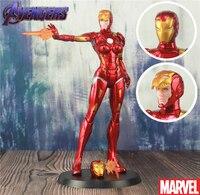 Marvel Avengers Iron Lady 20cm Statue Doll Toys 2 Face Comics Pepper Potts MK1616 Red Endgame Iron Man 8 Model Action Figure