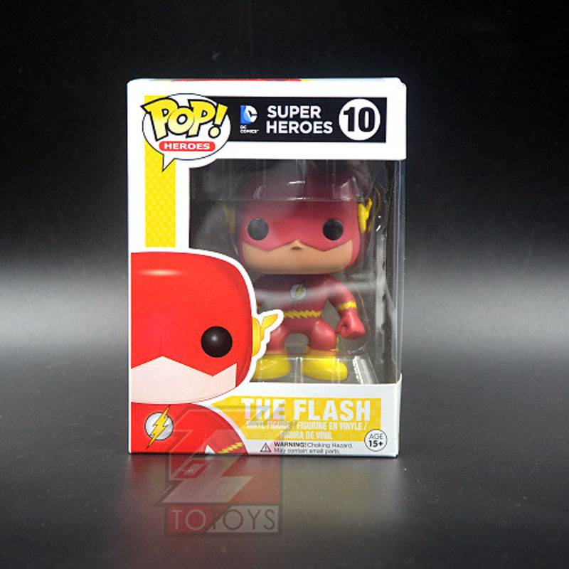 The Flash Super Heroes Funko Pop TV The Flash 10# Action Figure Comic Doll Collectible Kids Model Toy for Children Decoration  the flash funko pop the flash pvc action figure collectible model toy christmas gift