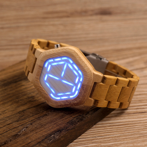 Image 2 - relogio BOBO BIRD LED Wood Mens Watches Digital Watch Men Night Vision Calendar Quartz Wristwatch Minimal Time Display Dropship