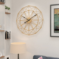 ¡Novedad de 2019! Reloj de decoración de pared para dormitorio de 60cm totalmente silencioso  Relojes de pared silenciosos de arte del hierro Retro para decoración del hogar y sala de estar
