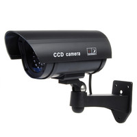 25mm Color Plastic Lens Fake Dummy CCTV Surveillance IR LED Imitation Security Safely Camera With Warning