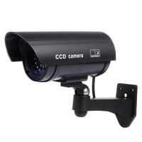 25mm Color Plastic Lens Fake Dummy CCTV Surveillance IR LED Imitation Security Safely Camera With Warning