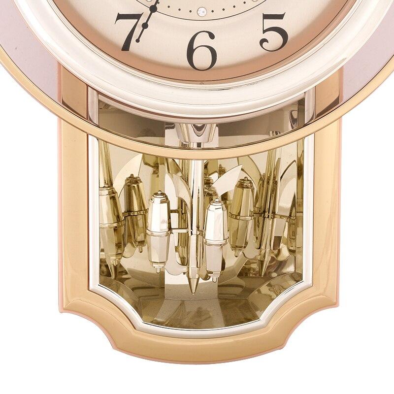 16 дюймов, современные бесшумные настенные часы с точным механизмом, ежечасный музыкальный колокольчик и яркие часы, офисные кварцевые часы,... - 6