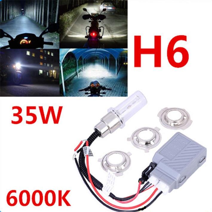 Free Shipping H6 motorcycle moto hid xenon kit bi motorcycle hid headlight universal motorbike hid lights ballast lamp 12V Auto  цена и фото