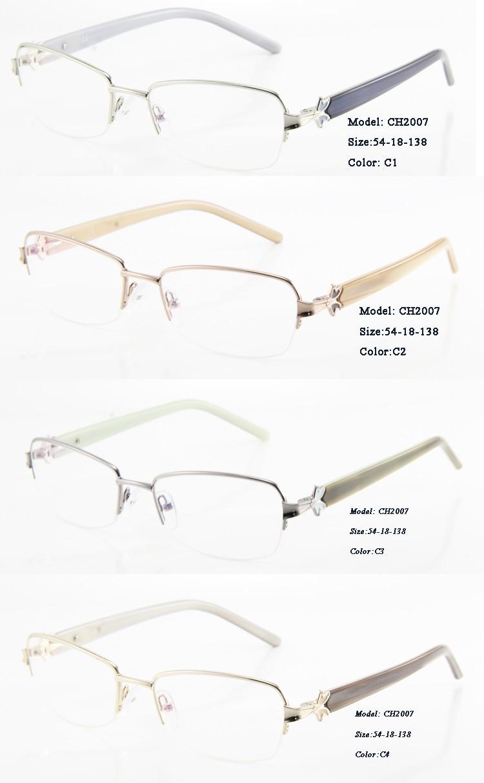 Augen Wunder Frauen Metall Brillen Optische Rahmen mit Dekoration auf  tempel Oculos de grau Frauen d640cf403d
