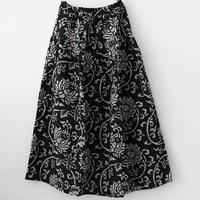 2019 Summer and autumn linen garden skirt forest cotton and linen national wind half length skirt / women's skirt / women