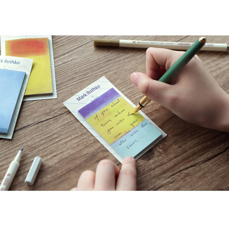 191f05ec3320a US $3.6 40% OFF|4 pcs impressionism sticky note Vintage painting diary  sticker planner agenda post Stationery Office School supplies F131-in Memo  Pads ...
