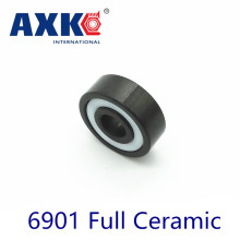 Axk 6901 Full Ceramic Bearing ( 1 Pc ) 12*24*6 Mm Si3n4 Material 6901ce All Silicon Nitride Ceramic 6901 Ball Bearings axk 6208 full ceramic bearing 1 pc 40 80 18 mm zro2 material 6208ce all zirconia ceramic ball bearings