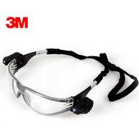 3M 11356 Protective LED Safety Goggles Dual Bright LED Lights Transparent Lenses Anti UV Anti Shock