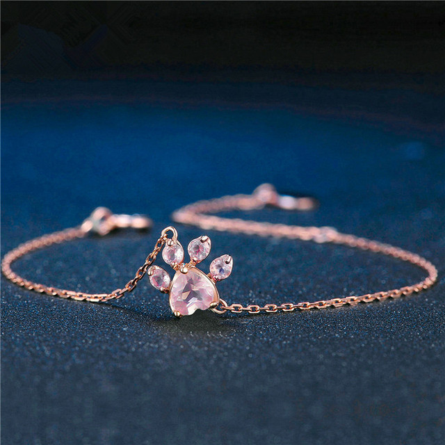 Pink Crystalls Shaped Pendant Necklace and Bracelet