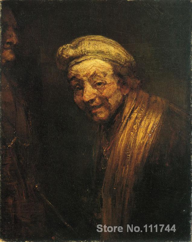 Famous art self portrait as zeuxis laughing rembrandt van for Hand painted portraits from photos