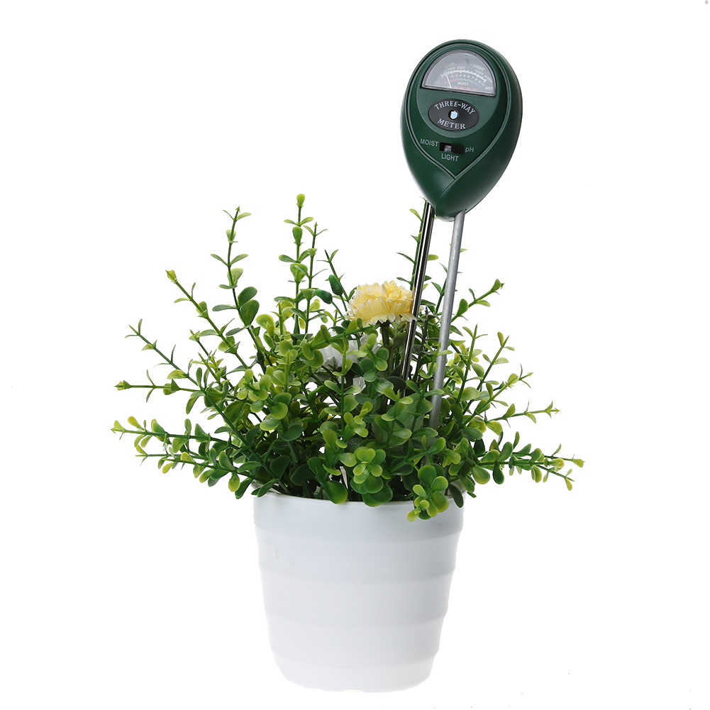 3 in 1 Soil PH Meter ph Tester Soil Moisture Meter for Plants Crops Flowers Vegetable Hydroponics Analyzer 3.5 - 8.0 PH mc7812 induction tobacco moisture meter cotton paper building soil fibre materials moisture meter