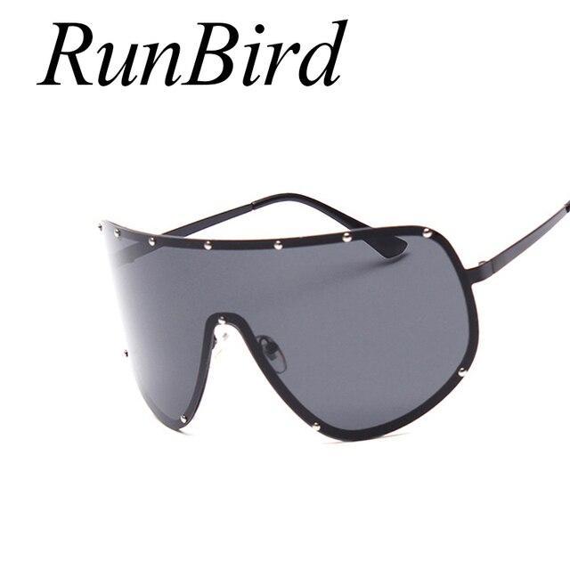 Runbird Nouveau Soleil Lunettes Sexy Nuances Noir lunettes de Soleil  Polarisées Femmes Hommes Surdimensionné Cool Lunettes bdcfef030d72