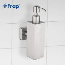 FRAP, 200 ml, bombas de pared simple de acero inoxidable cepillado, dispensador de jabón manual, botella, dispositivo desinfectante Y18002