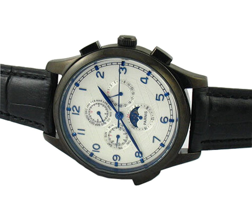 Parnis 44mm White Dial Multi-function Automatic Watch P042602 - parnis store