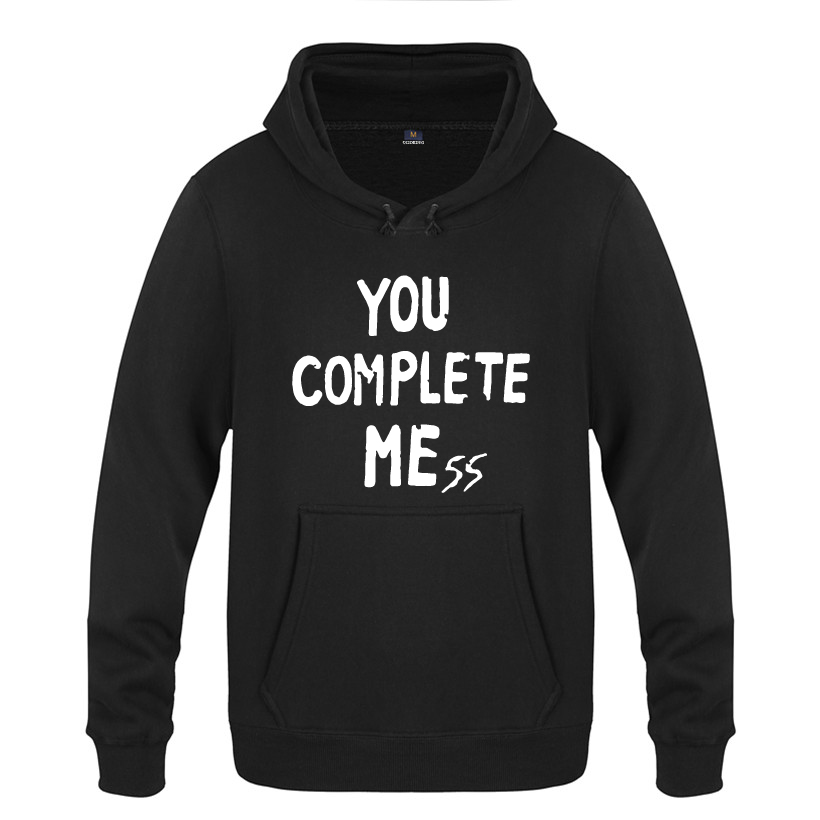 You Complete Mess - 5 Seconds Of Summer 5SOS Hoodies Men 2018 Men's Pullover Fleece Hooded Sweatshirts