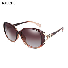 New Fashion Women Polarized Sunglasses Luxury Round Diamond Large Frame UV400 Brand Desinger Sun Glasses Sexy Goggle Eyeglasses