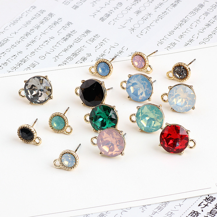 DIY Handmade Jewelry Accessories Cut Glass Crystal Alloy Belt Hanging Earrings Materials Temperament