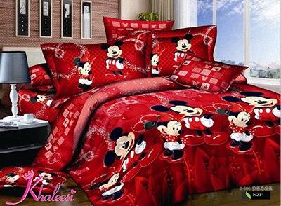 Mickey minnie mousebedroom set designer cama edredon casal - Parure de lit mickey et minnie adulte ...