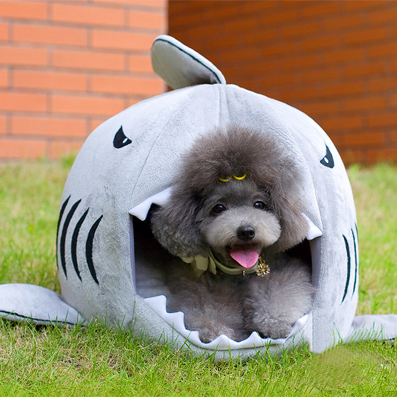 TTLIFE 2016 2 Size Pet Products Warm Soft Dog House Pet Sleeping Bag Shark Dog Kennel Cat Bed Cat House cama perro
