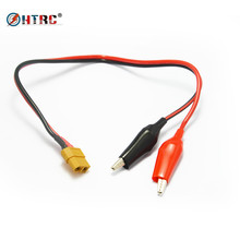 HTRC Charger cable XT60 femal conector plug to universal crocodile clip